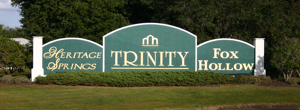 Trinity Florida Entrance Sign