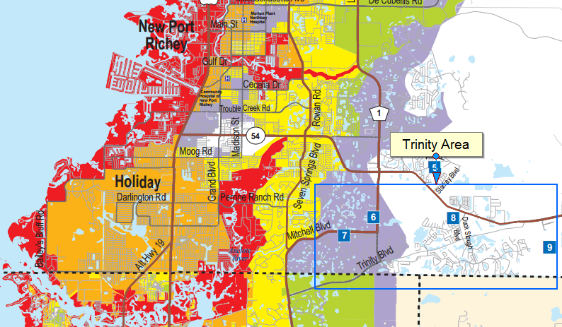 Hurricane Preparedness For Trinity Florida New Port Richey: Pinellas County Flood Maps At Slyspyder.com