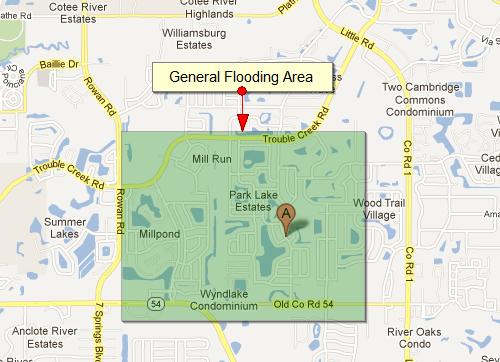 Area Flooding   Trinity Florida