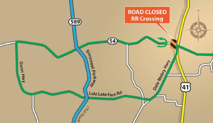 SR54 Complete Closure at Highway 41 | Trinity Florida